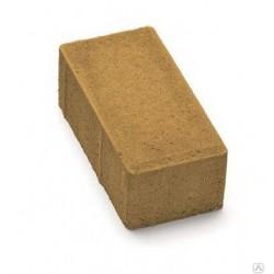 Тротуарная плитка Кирпичик П20.10.6 желтая 3%