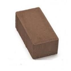 Тротуарная плитка Кирпичик П20.10.6  коричневая 3%
