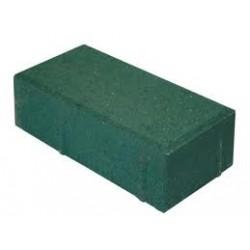 Тротуарная плитка Кирпичик П20.10.6 зеленая 3%